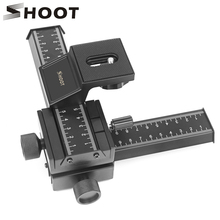 SHOOT 4 Way Macro Focusing Rail Slider for Canon Sony Nikon Pentax Close Up Shooting Tripod Head with 1/4 Screw for DSLR Camera