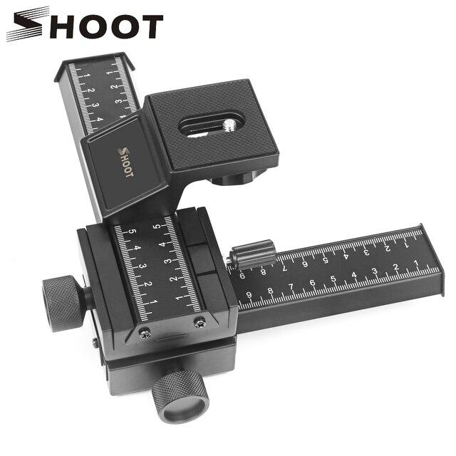 Schieten 4 Way Macro Focusing Rail Slider Voor Canon Sony Nikon Pentax Close Up Opnamen Statief Hoofd Met 1/4 schroef Voor Dslr Camera