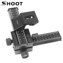 Shoot trilho de foco foco 4 way macro, deslizante estreita para canon nikon pentax olympus sony samsung digital câmera slr dc