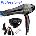 with 6 free gifts 3000w Professional hair dryer blow dryer for salon home use hairdryer with nozzles Hot cold air adjustment