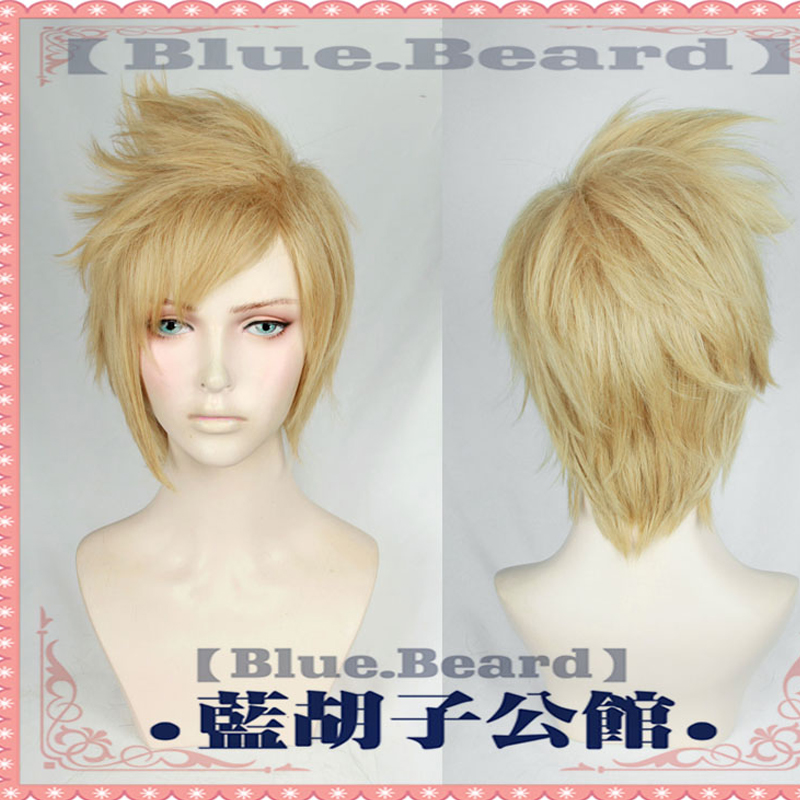 Game Top quality Prompto Argentum Cosplay Wig Final Fantasy XV Costume FF15 Cosplay short Wigs Halloween Costumes Hair +Wig Cap
