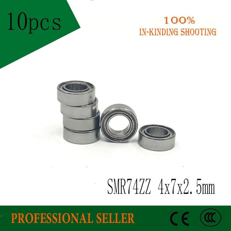 Free Shipping 10 PCS SMR74ZZ 4*7*2.5mm Bearings SMR74 ZZ 4x7x2.5 mm Stainless Steel Ball Bearings DDL-740ZZ все цены