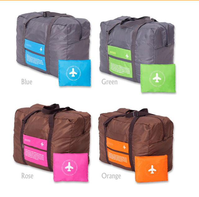 2017 Zipper Top Fashion Large Capacity Sorting Collapsible Bags Travel Tote Bag Suitcase Folding Luggage Package