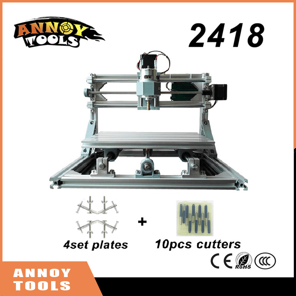 CNC 2418 mini diy CNC laser engraving machine+0.5W-5.5W laser, Pcb Milling Machine,Wood Carving machine,GRBL control CNC Router  цены