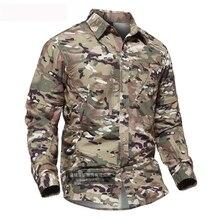 Мужская Летняя быстросохнущая камуфляжная рубашка со съемным рукавом для тренировок на открытом воздухе, дышащие съемные тактические топы, Охотничья рубашка