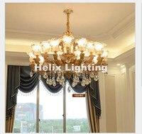 European Royal Zinc Alloy Modern Jade Silver Luxury Crystal Chandelier 6L/8L/10L/15L E14 LED Hotel Indoor Chandelier Lighting