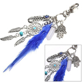 Boho Style Key Chain Dream Catcher Tassel Feathers Palm Pendant Keyring Keychain smt 102