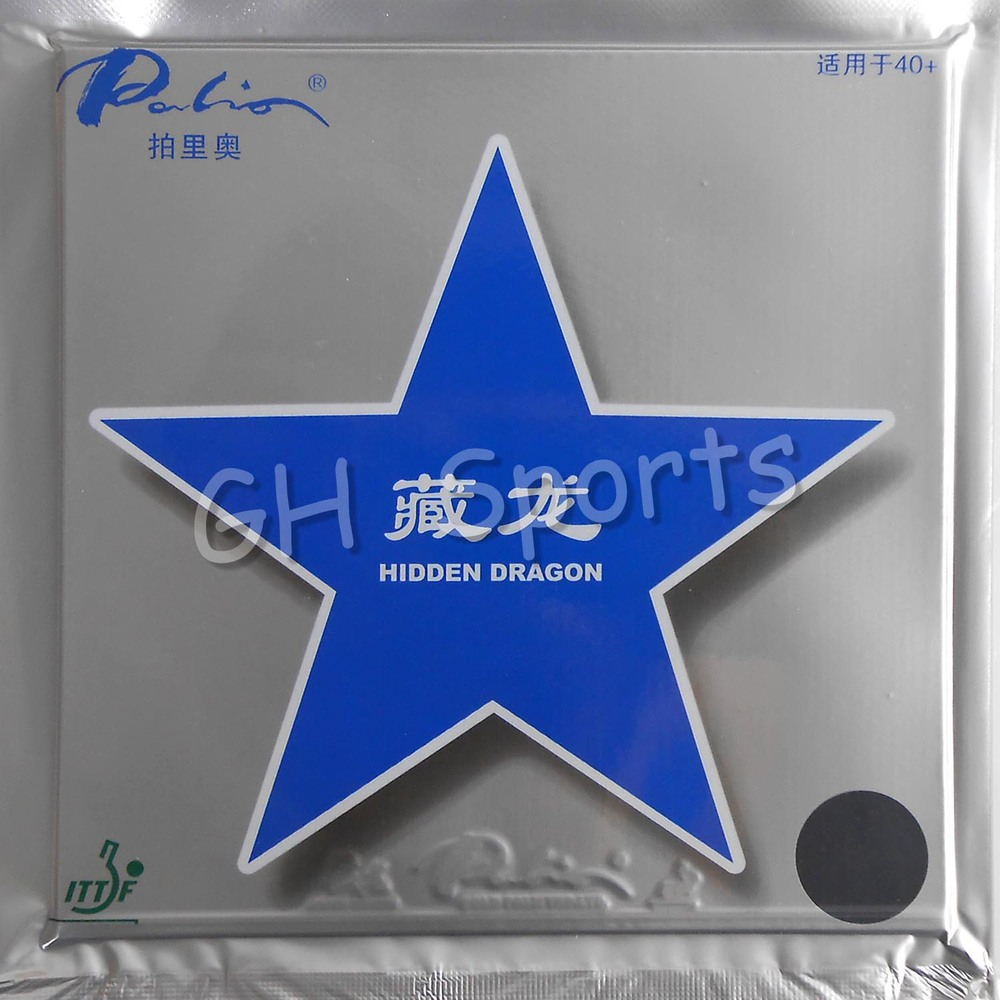 Palio Hidden Dragon 40+ (Non-Tacky) Pips-In Table Tennis (PingPong) Rubber With GL Sponge