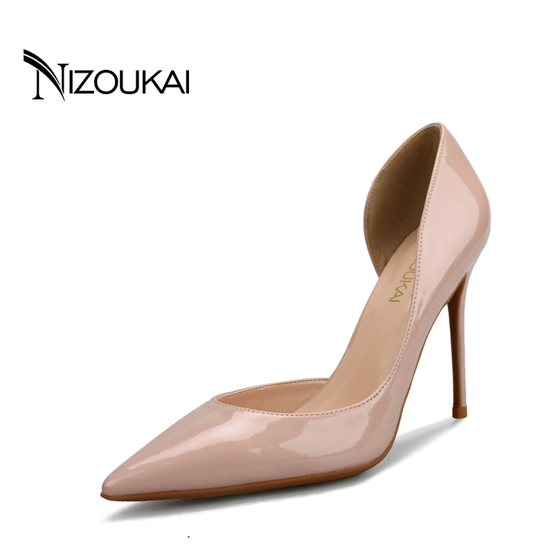 women shoes high heels pointed-toe stiletto heels shoes woman wedding Black Nude Red heels shoes size 42 44 d02-q10 deleventh classics sexy women red wedding shoes peep toe stiletto high heels shoes woman sandals black red nude big size 43 us10
