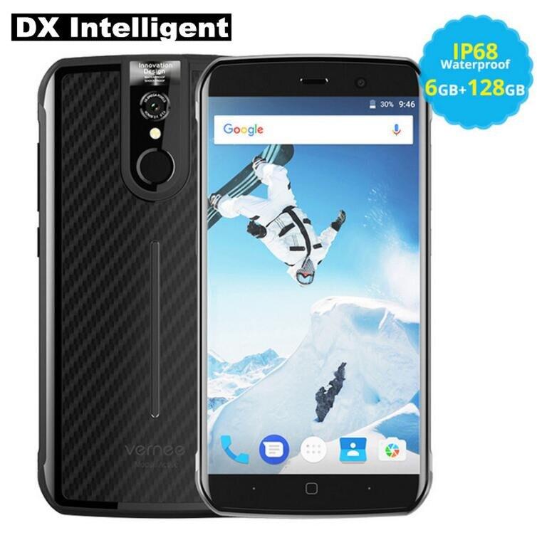 Vernee Active 6 gb RAM 128 gb ROM Mobile Téléphone IP68 Étanche 5.5 Pouces FHD Helio P25 MTK6757 Octa core 16MP NFC OTG D'empreintes Digitales