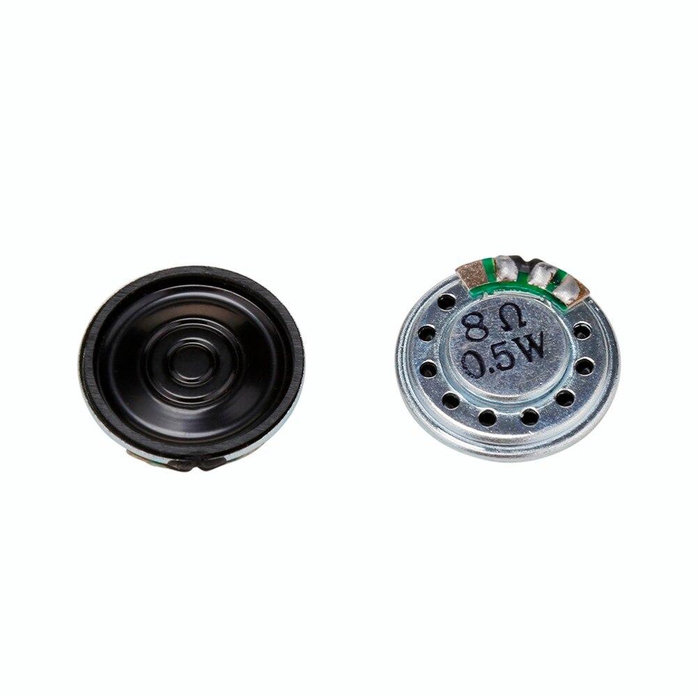 2 Pcs 20 Millimetri 8ohm 0.5 W Audio Stereo Speaker Woofer Altoparlante Tromba Corno Buzzer Fai Da Te Accessori Elettronici
