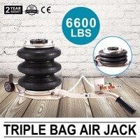 6600LBS Тройная сумка Air jack 3 тонны домкрат пневматические Джек 3 т