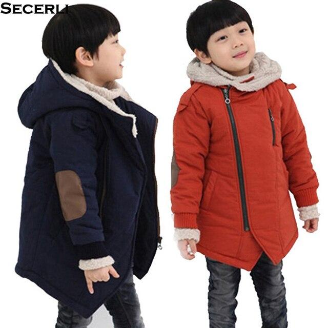 Best Offers 2018 Kids Boy Winter Coat Long Sleeve Hooded Children Boy Jacket Parkas 3 6 8 10 12Years Patchwork Fashion Teenage Kids Clothes