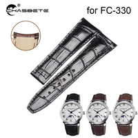 Genuine Leather Watch Band 23mm for Frederique Constant Runabout FC 330 RM6B6 43mm Folding buckle Strap Wrist Loop Belt Bracelet