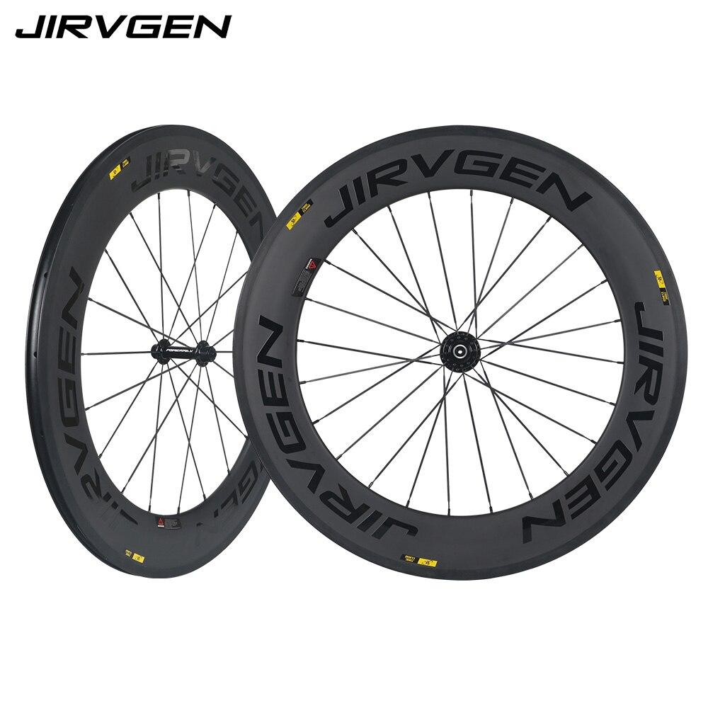 2018 nouvelles roues de route en carbone 700C Powerway R13 roues en carbone 88mm pneu en forme de V UD noir mat