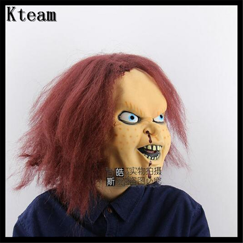 Halloween Scary Mask Bad Boy Purple Lip Adult Costume Mask Fancy Dress Party Chucky Mask Costumes Theater Role Playing Carnival