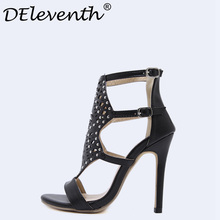 2d0d2e2f075 Buy black rivet strappy sandals and get free shipping on AliExpress.com