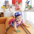 Bebê Swimwear Menina 3 Peças de Verão Meninos Trajes de banho Da Criança Dividir Swimwear bonito Dos Miúdos dos desenhos animados estereoscópica Impressão Meninas Maiô