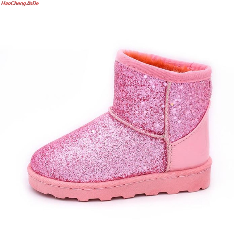 New Brand Children Shoes Girls Boots Winter Warm Ankle Fashion Baby Boots Shoes Kids Snow Boots Children's Plush Warm Shoes