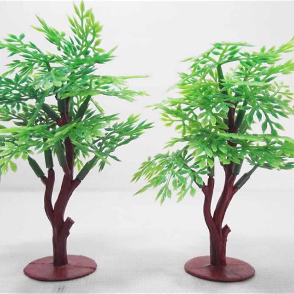 9 Cm Lansekap Kereta Api dan Permainan Perang Layout Pemandangan Rumah Boneka Tata Letak Pemandangan Model Pohon Miniatur Model Pohon