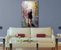 Miłośnicy chodzić na drodze Romantyczny obraz olejny Na Płótnie abstrakcyjne obrazy na płótnie nowoczesne obrazy dla domu dekoracje ścienne