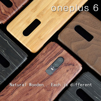 Natural Wooden phone case FOR Oneplus 6 case cover bamboo/Walnut/Rosewood/Black ice wood/ shell 6.28 (Real wood)