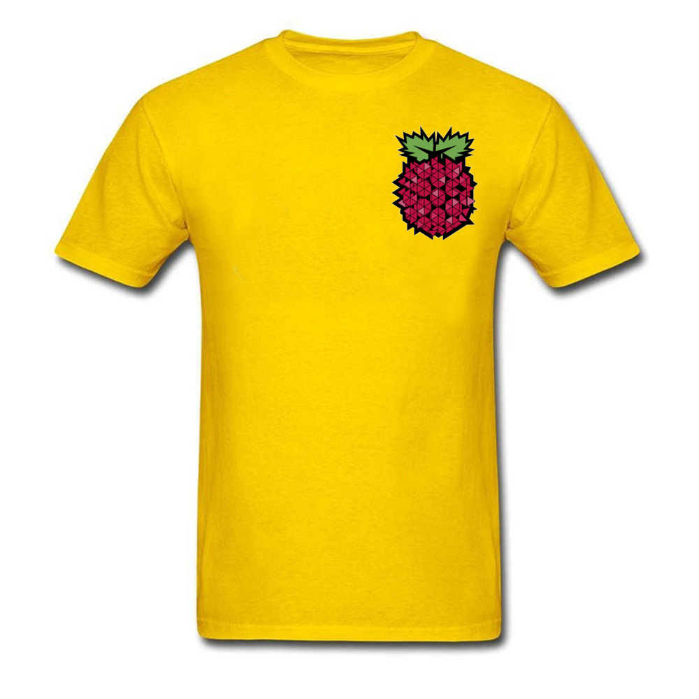 Tops T Shirt Tops & Tees 3D Printed Summer Autumn Short Sleeve 100% Cotton Fabric Round Neck Men's T-shirts Casual New Fashion Geometric raspberry  fruit food art Chest yellow