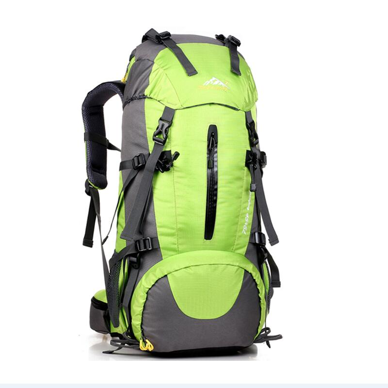 50L large capacity Outdoor climbing bag men and women Nylon Waterproof Rucksack Camping hiking package sport bag