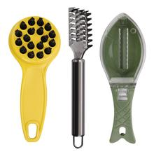 Stainless Steel Fish Scale Planer Plastic Scraping Tool Scraper High Quality Kitchen Supplies 3Pcs Practical Durable