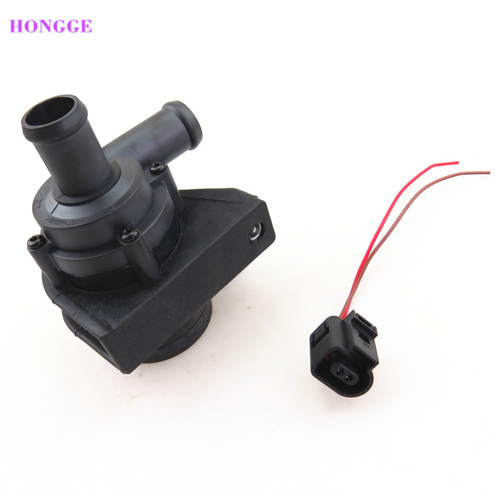 HONGGE Engine 1.8 Cooling Circulating Water Pump + Connecting Cable Harness For VW Eos Tiguan Passat Jetta A3 TT Seat 1K0965561J new electric engine water pump 11517586925 for bmw x3 x5 328i 528i