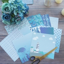 24 sheets DIY 12 style 15.2*15.2cm under sea and surface theme craft paper scrapbooking creative paper DIY gift use все цены