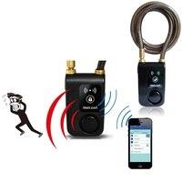 Carro elétrico mountain bike bicicleta super inteligente telefone app controle inteligente alarme bluetooth bloqueio 110db alarme anti roubo bloqueio|Cadeado de bicicleta| |  -