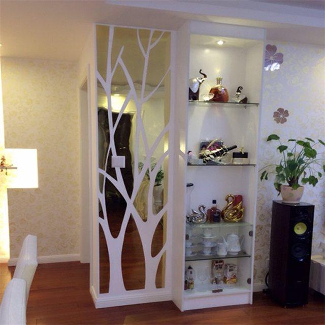 Online Shop 3D grote Boom patroon Acryl muurstickers spiegels ...