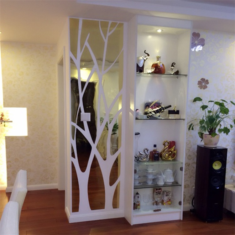3d large tree pattern acrylic wall stickers mirrors decorative mirror living room hallway. Black Bedroom Furniture Sets. Home Design Ideas