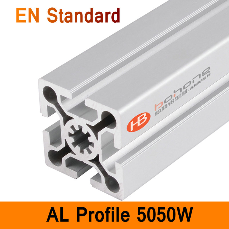 5050W Aluminium Profile EN Standard DIY Brackets Aluminium AL Extrusion CNC 3D DIY Printer Parts Aluminum Square Pipe T Slot ...