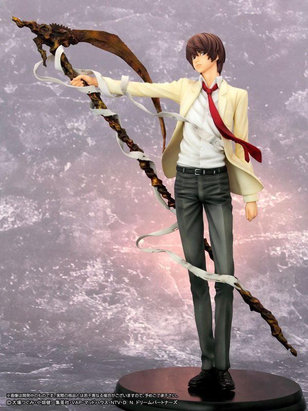 Hot 1pcs 26CM pvc Japanese anime figure DEATH NOTE Yagami Light action figure collectible model toys brinquedos sosw fashion anime theme death note cosplay notebook new school large writing journal 20 5cm 14 5cm