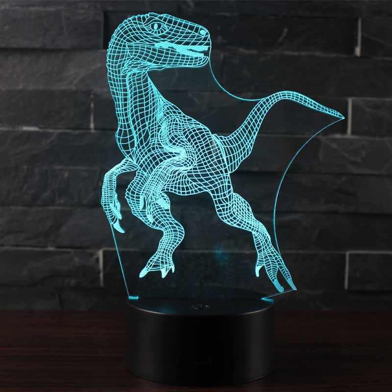 Dinosaur Tyannosaurus Night Lights Gifts 3D Optical Illusion LED Lamp Remote Control/&RGB Colors USB Powered Kidsroom Decor Toys Christmas Birthday Gift Ideas for Boys Kids Tyrannosaurus