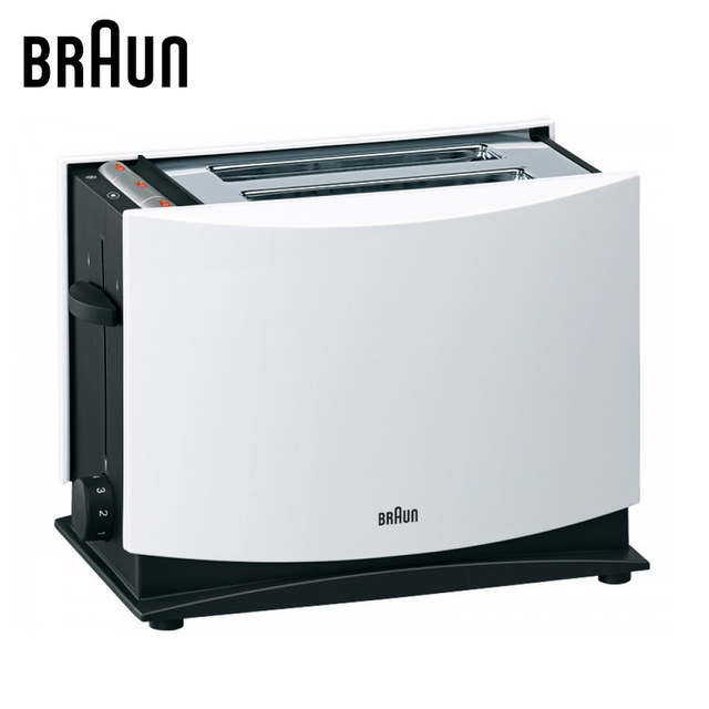 Toaster BRAUN HT400 WHbread Household Baking 2 Slices Slots for Breakfast toast machine automatic zipper