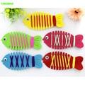 HAPPYXUAN 5pcs/lot DIY Fish String Line Winding Toy Handmade Educational Toys Kindergarten Child 2016 New