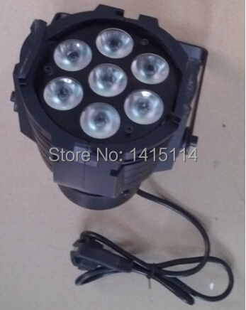 Mini led wash light 7pcs*10W rgbw led par 64 led wash stage lighting full color inddor par can dj effect