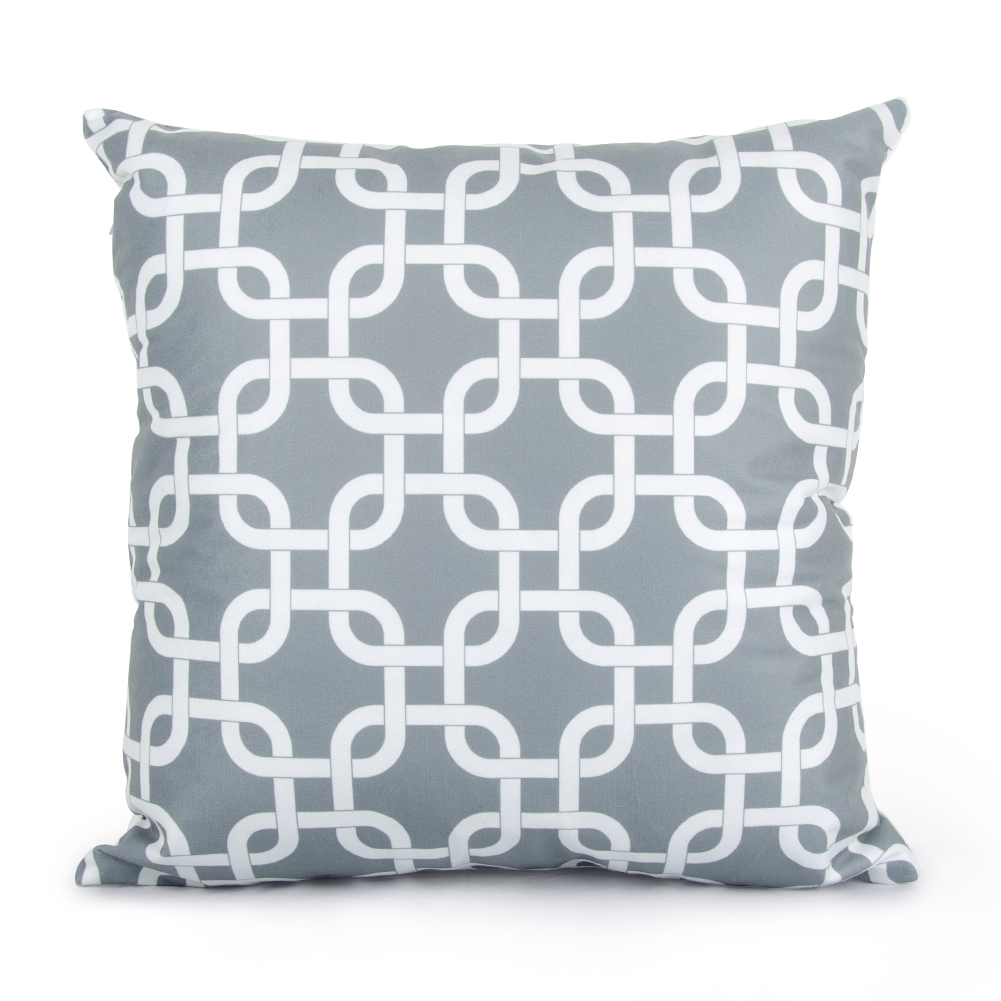 topfinel geometric pillow cases grey cushion covers for sofa seat office chair velvet decorative throw pillow