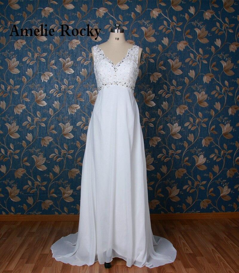 Real Sample White Sparkly Beading Beach Wedding Dress Sexy