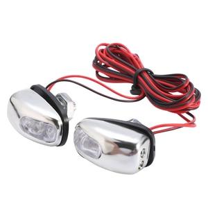 Image 2 - 2pcs 12V LED Car Windshield Spray Nozzle Wiper Washer Eyes Decoration White Color Lights For Auto Trucks