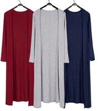 Женский кардиган летний длинный тонкий Casaco Feminino Модальная шаль с длинным рукавом размера плюс Солнцезащитная одежда Кардиган Куртка