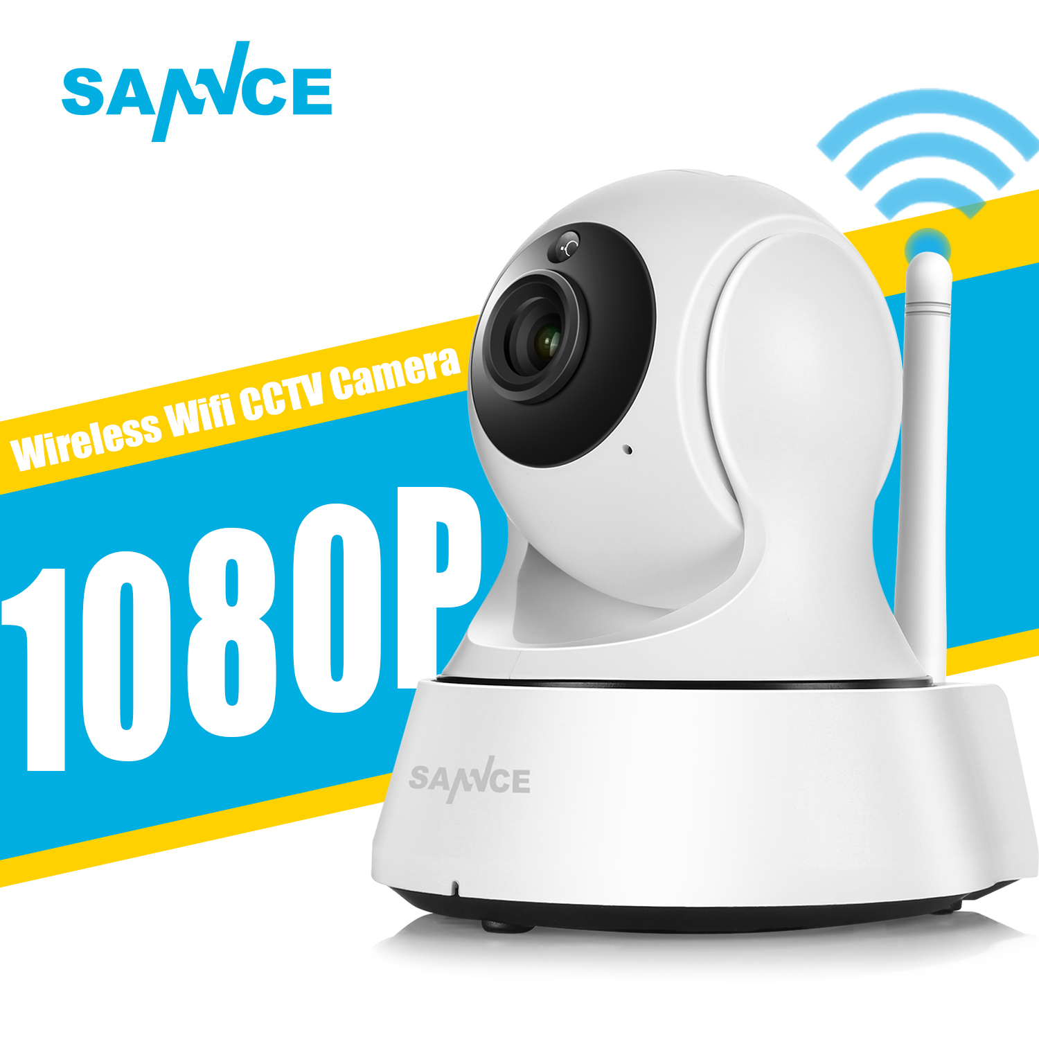 SANNCE Home Security IP Camera Wi Fi Wireless Mini Network Camera ...