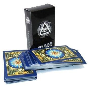 Tam İngilizce altın kadınlar için tarot kartları gizemli Parlak tarot güverte oynama kart oyunu kurulu oyun