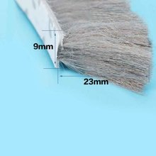 1m x 9mm 23mm door window weather wind seal brush 3M adhesive strip