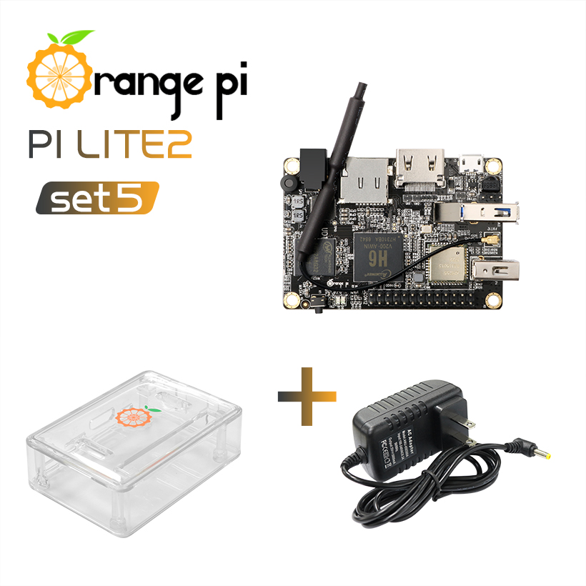 Orange Pi Lite2 SET5 OPI Lite2 ABS Transparent Case Power Supply