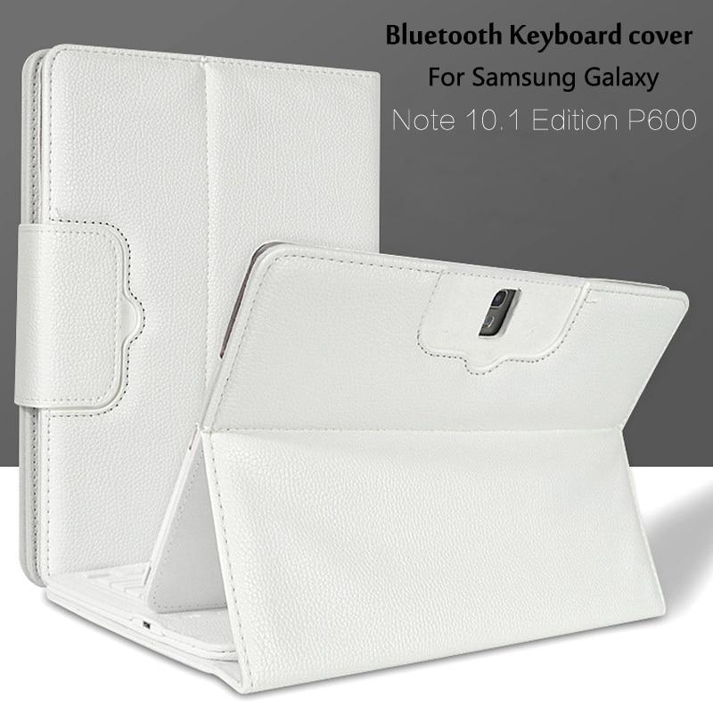 Pour Samsung Galaxy Note 10.1 2014 Édition P600 P601 P605 T520 Bluetooth Clavier Portefeuille Folio PU Housse En Cuir + cadeau