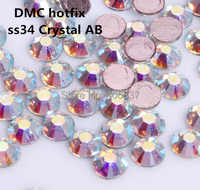 Free Shipping! 144pcs/Lot, ss34 (7.0-7.3mm) High Quality DMC Crystal AB Iron On Rhinestones / Hot fix Rhinestones